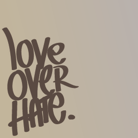 illustration love hate
